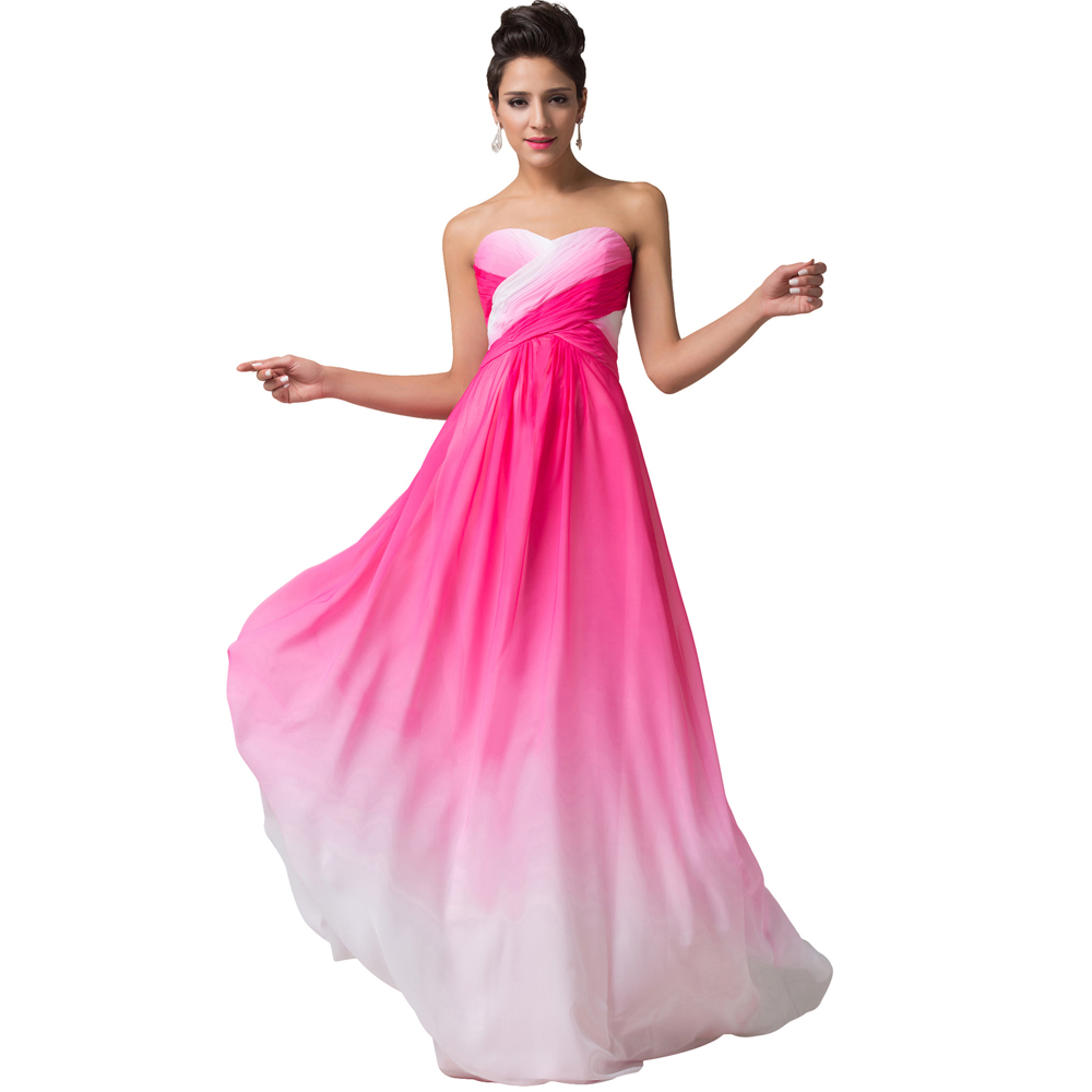 evening dresses long 2016 grace karin blue pink chiffon robe de soiree engagement dress pleated. Black Bedroom Furniture Sets. Home Design Ideas
