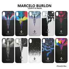 New Marcelo BURLon Wing snake Hard Protective Phone case for iphone 6 6S plus 7 8 X 10 XS MAX XR Animal feather wing Cover