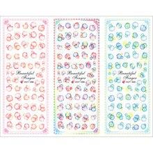 3 пачки/Лот Красочные Пузырьковые татуировки для ногтей наклейки водная наклейка для ногтей HOT298-300