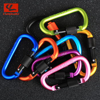 8cm Aluminum Alloy D-Ring Key Chain 2
