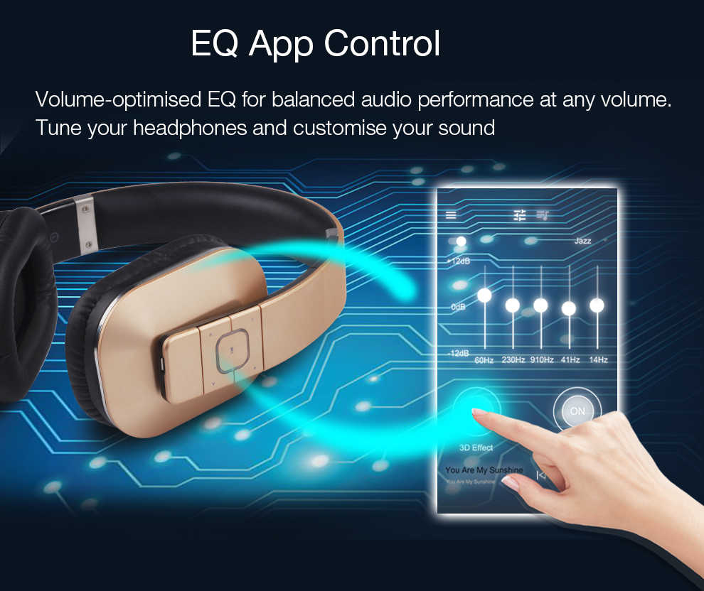c33525a179e ... August EP650 Upgrade Over Ear Bluetooth Wireless Headphones with EQ APP  Control Bass Rich Sound BT ...