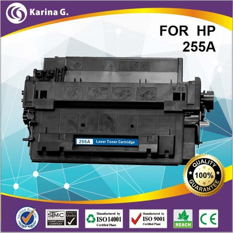 For 55A 255A comaptible toner cartridge for HP Ce255a a+Quality for HP Laserjet Enterprise P3015 P3015d P3015dn P3015x toner chip for hp laserjet enterprise m630 cartridge chips balson china manufacture