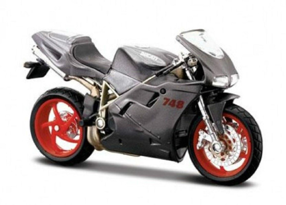 MAISTO 1:18 Ducati 748 MOTORCYCLE BIKE DIECAST MODEL TOY NEW IN BOX Free Shipping