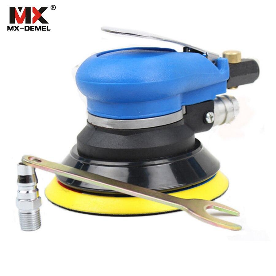 MX-DEMEL 5 cal losowych orbitalnej szlifierka powietrza na dłoni i polerka samochodu odkurzacz zestaw narzędzi 5 cal maszyna do polerowania powewr narzędzia