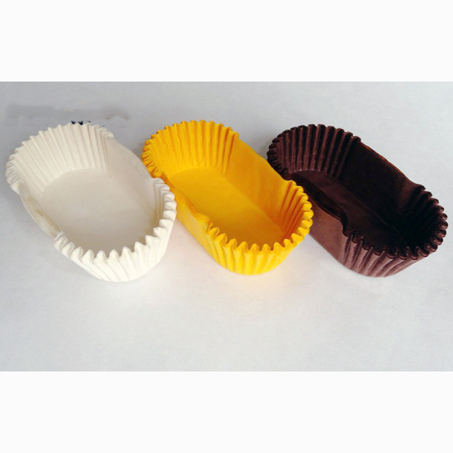 600pc Muffin Cupcakes Paper Cases 7 9cm Oval Bread Wrapper