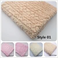 2pcs Lotl155 100 New Soft Faux Fur Blanket Basket Filler Stuffer Newborn Infant Baby Photography Props