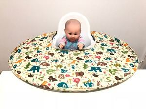 Quality Restaurant and Home Baby Feeding Saucer High Chair Cover, Highchair Cover Germ Prevents Food and Toys Falling to Floor