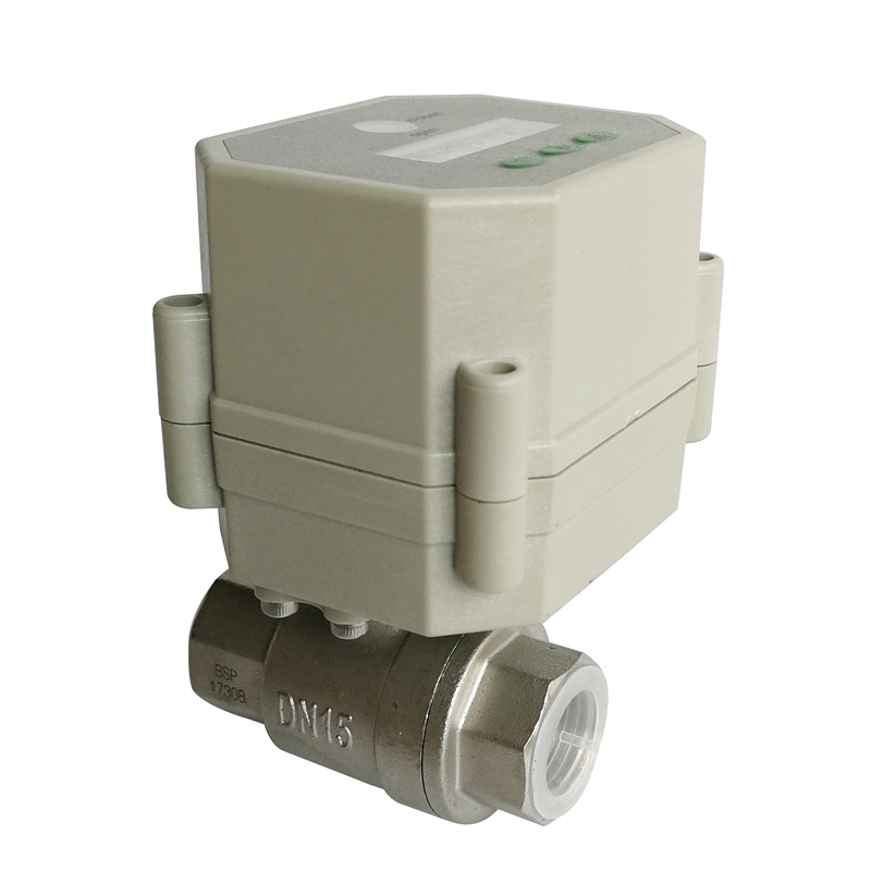 1/2'' Timer electric valve SS304, 9-24VAC/DC Motorized valve with timer control function with position indicator 1 2 ss304 electric ball valve 2 port 110v to 230v motorized valve 5 wires dn15 electric valve with position feedback