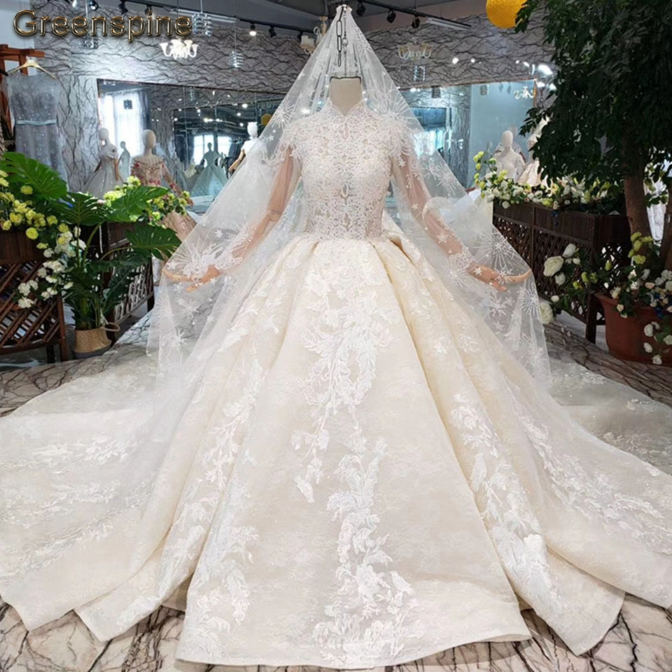 Greenspine Indian Long Sleeve Wedding Dress 2019 Vestidos De Noiva
