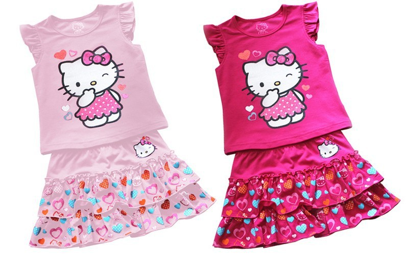 Popular Lovely Baby Kids Girls Hello Kitty Clothes-Buy Cheap ...