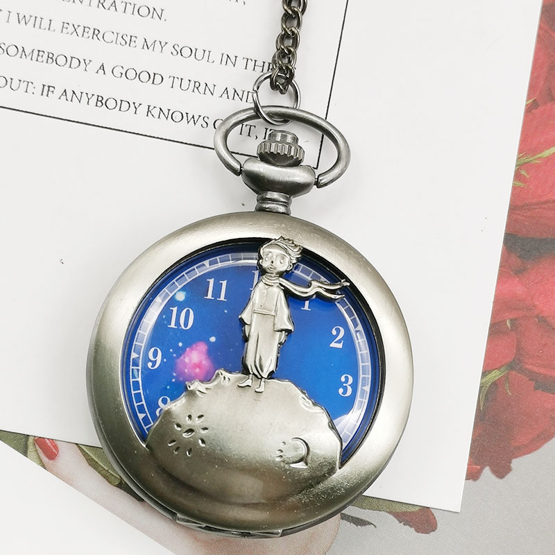 Fashion Alice In Wonderland Theme Full Hunter Bronze Quartz Engraved Fob Retro Pendant Necklace Pocket Watch With Chain Gift