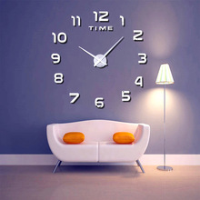 Digital Clock Wall DIY Modern EVA Material Living Room Transparent Mirror 2018 New