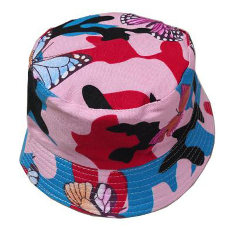Men Women Bucket Hat Flower Print Cap 2018 Summer Hot Sale Flat Hat Fishing Boonie Bush Cap Outdoor Sunhat Wholesale #FM11 (7)