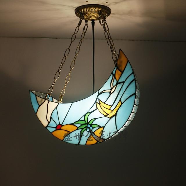 Tiffany Simple Beach moon Glass Pendant lights Tiffany ...