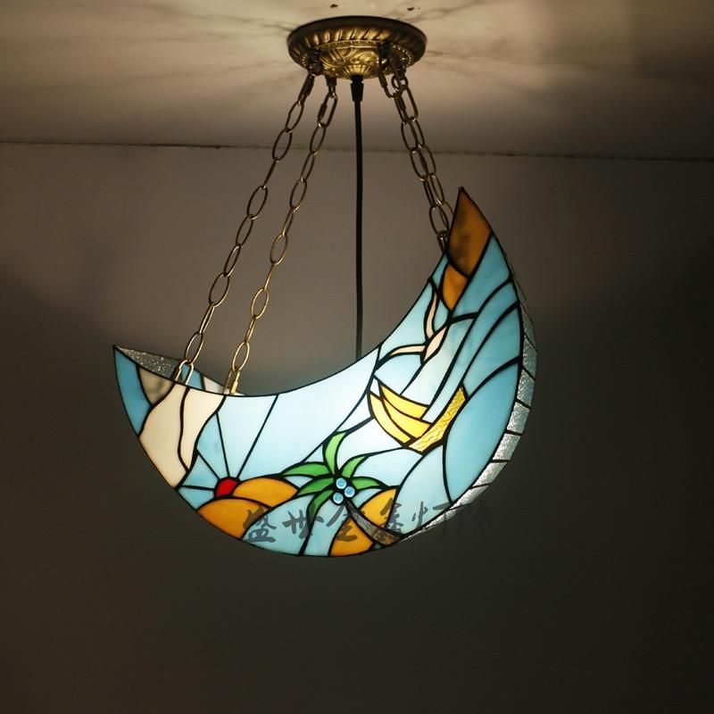 Moon Lights Bedroom: LightSimple Beach Moon Glass Pendant Lights LightLamp