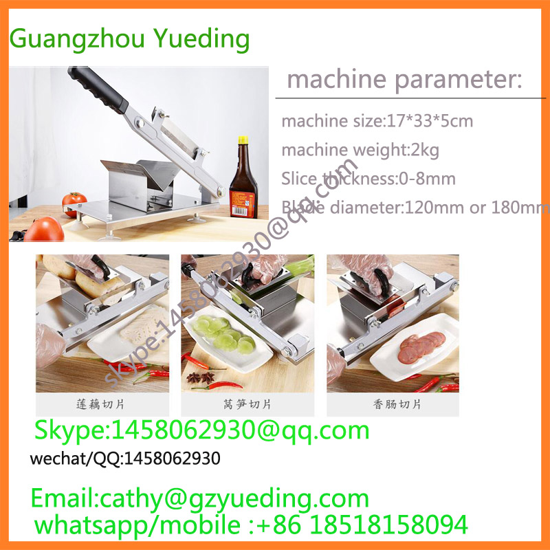 Здесь можно купить  free shipping to USA 304 Stainless Steel Manual Frozen Meat Beef Mutton Slicer Handle Meat Cutting Machine   Бытовая техника