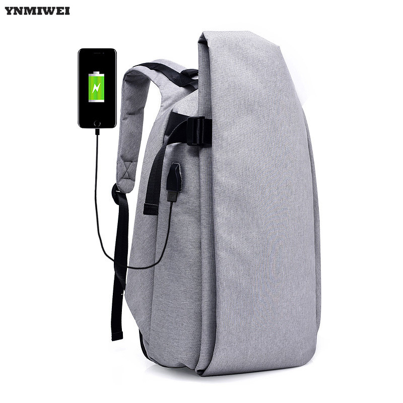 YNMIWEI Anti-theft Laptop Backpack With USB Charge Shoulder Bag For Lenovo Xiaomi Air 13 Notebook PC Rucksack Travel School Bags ynmiwei laptop backpack rucksack shoulder bag for xiaomi air 13 high quality 12 14 15 inch notebook pc backpacks school bag