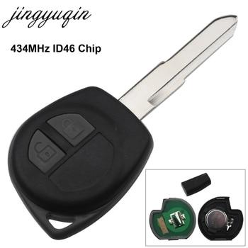 Jingyuqin Auto Remote Key Fit für Suzuki Swift SX4 ALTO Vitara Ignis JIMNY Splash 433 MHz ID46 Chip HU87 Uncut klinge