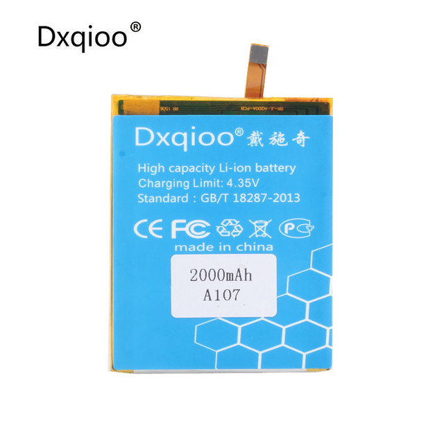 Dxqioo High quality mobile phone batteries fit for Micromax A107 Q380 2000mAh  batteries