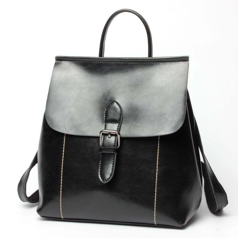 Ms. Korean version of the oil wax leather zipper buckle backpack Ms. multifunctional trend of the leather waist fashion large-caMs. Korean version of the oil wax leather zipper buckle backpack Ms. multifunctional trend of the leather waist fashion large-ca