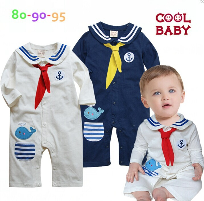 New 2016 Cute Sailor Baby Boy One Piece Romper Long Sleeve Boys Jumper Coverall Jumpsuit New Born Infant Clothes Bebe Clothing baby clothing summer infant newborn baby romper short sleeve girl boys jumpsuit new born baby clothes