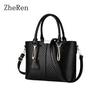 Cas2016 Direct Selling Silt Pocket Medium(30-50cm) Single Zipper Totes Ladies Handbag Exquisite Leather New Pu Lingge Hand Bags grande bolsas femininas de couro