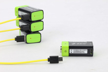 Cncool 1pcs 9V 400mAh lithium li-po li-ion rechargeable battery + micro usb cable for charging