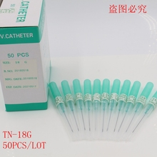 50PCS Piercing Needles I.V Catheter 18G Gauge Needles Sterilised Body Piercing Tattoo Needles 14G 18G 20G 22G Sewing Needles
