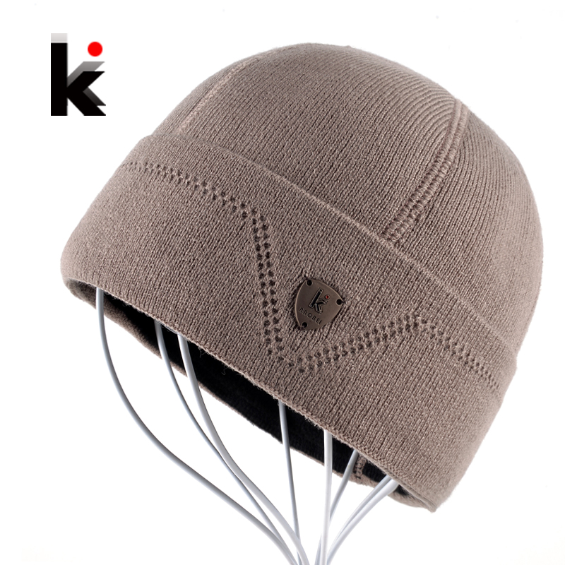 2017 Mens Skullies Gorro Russia Beanie Touca Inverno Plus Velvet Hat Knitted Caps Bonnet Winter Cap Hats Beanies For Men skullies