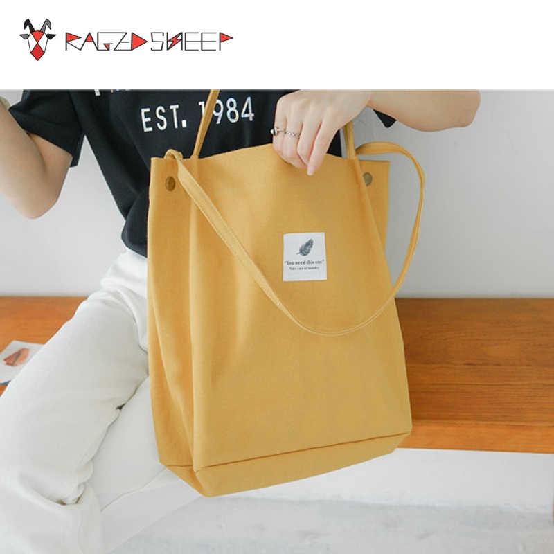 717b4182b3a Raged Sheep Women Shopping Bags Ladies Canvas Hasp One Shoulder Bags Girls  School Book Bags Women