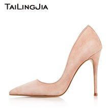 High Heel Slip On Women Pointed Toe Light Pink Women Shoes Woman Pumps Ladies Party Wedding Dress Plus Size Shoes Wholesale metal designer pink cute party slip resistant ladies women dress shoes flats nude suede on pointed toe japanese 2018 pearl