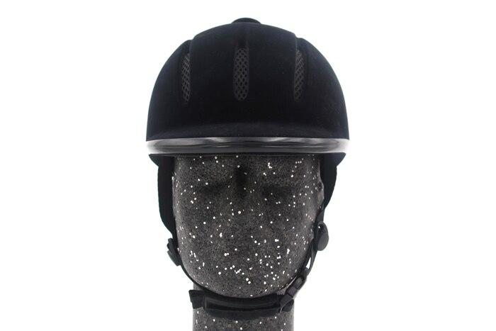 Profissional equestre equitação capacete preto meia capa