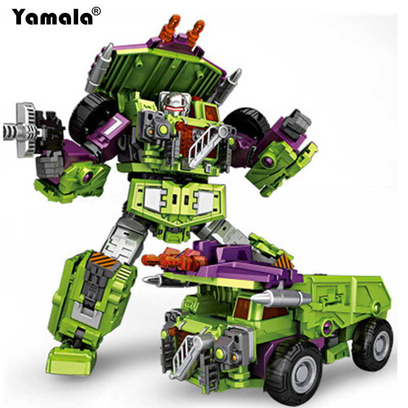 цена на [Yamala] IN STOCK NBK01-05 New Transformation Robot Ko Devastator LONG HAUL Scraper Mixmaster Figure Toy Action Figure Toys