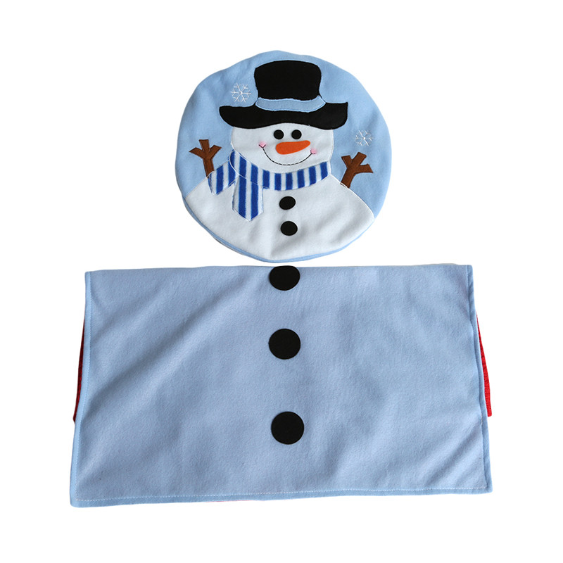 Swell Us 6 28 39 Off 1Set Blue Fancy Snowman Toilet Seat Cover And Rug Bathroom Set Christmas Decoration Qb881652 In Toilet Seat Covers From Home Garden Cjindustries Chair Design For Home Cjindustriesco