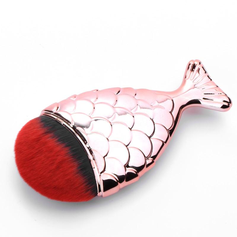 Chubby pescado Brochas de Pelo negro rojo sirena formación de crema BB Cepillo h