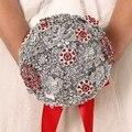 Высокое качество 2016 роскошный индивидуальные свадебное YIYI букет с перл из бисера брошь свадьба красочные невеста букет WD035