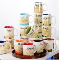 Ceramic Chinese City Cup Mug Coffee Cup Mug 16oz Ceramic Cup