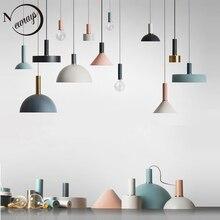 Loft w stylu nordyckim proste lampy wiszące E27 LED nowoczesne kreatywne lampy wiszące projekt DIY do sypialni salon kuchnia restauracja