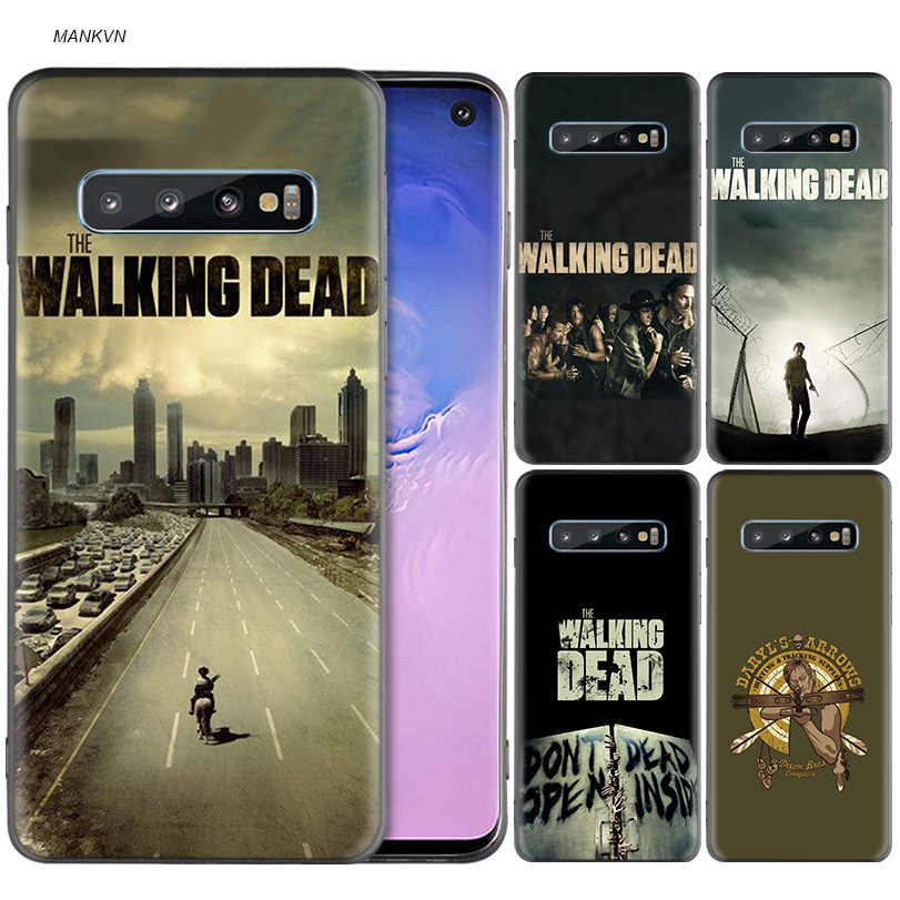 The Walking Dead Black Silicone Case for Samsung Galaxy M20 S10e S10 S9 M10 S8 Plus 5G S7 S6 Edge Cover Coque