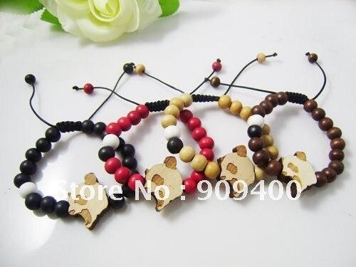 Good Wood Bracelet 100 Hip Hop Jewelry Goodwood Panda Hiphop Shamballa 50pcs