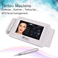 Artmex V8 7 inch glass touch screen MTS + PMU digital tattoo professional permanent makeup machine for eyebrow free shipping