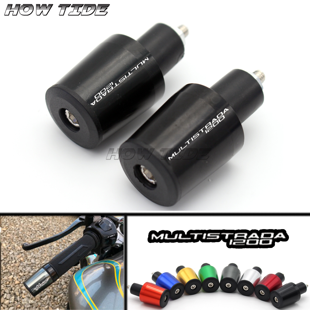 Motorcycle Accessories 7/8'' 22MM Handlebar Grips Handle Bar Cap End Plugs For Ducati MULTISTRADA 1200/S/GT 2010-2016