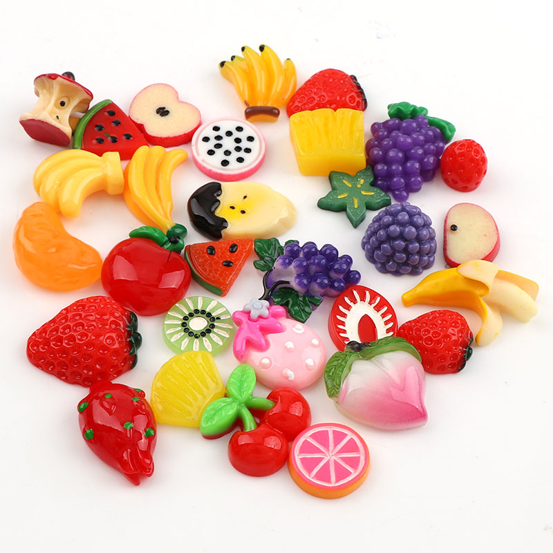 Us 2 85 20 Off 30 Pcs Mix Designs Colorful Fruit Series Diy Resin Flatback Cabochon For Diy Craft Accessories Bag Decoration In Diy Craft Supplies