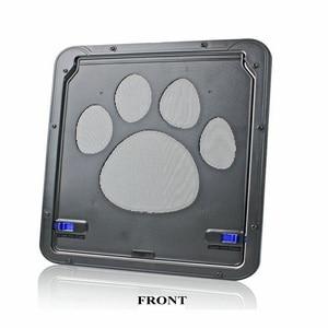 Image 5 - 애완 동물 문 새로운 안전한 잠글 수있는 자석 스크린 옥외 개 고양이 창 문 집은 자유롭게 들어간다 유행 예쁜 정원 쉬운 설치