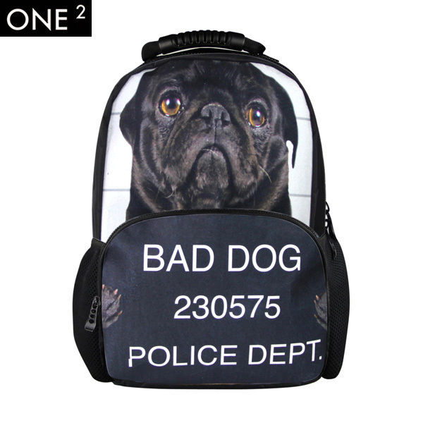 New brand fashion 3D Dog backpack,printing laptop backpack with animal  design, high school student bags