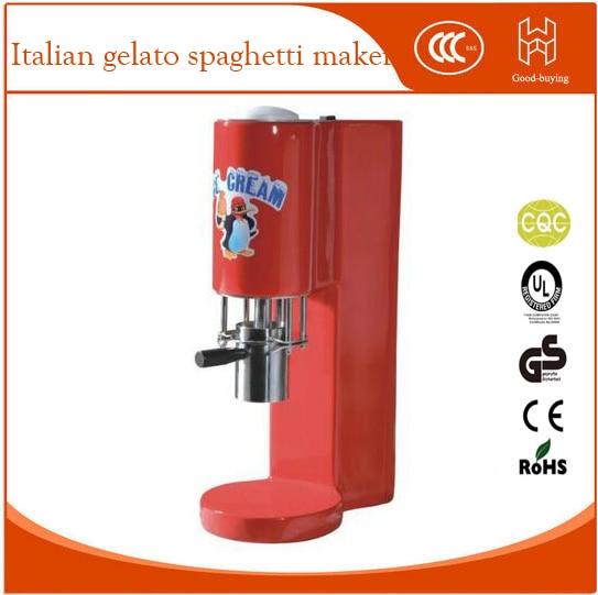 italian gelato spaghetti machine CE spaghetti ice cream machine spaghetti gelato maker italian noodle ice cream machine