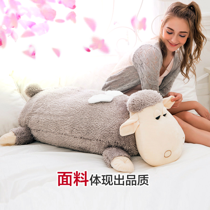 Cute Large Toy Big size 1pcs 100cm Sheep Plush Toy Alpaca doll Soft Stuffed Animals Pillow Cushion Kids Toy Girls Birthday Gifts cute large toy big size 1pcs 100cm sheep plush toy alpaca doll soft stuffed animals pillow cushion kids toy girls birthday gifts