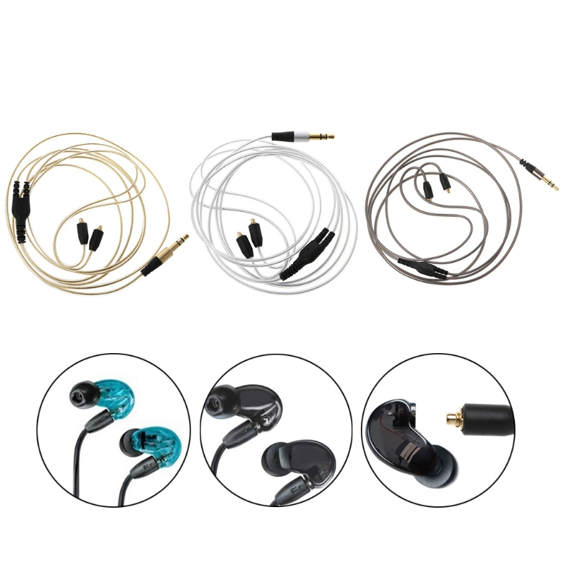 Cable for Shure SE215 SE315 SE535 SE846 Earphones Headphone Cables Cord in Earphone Accessories from Consumer Electronics