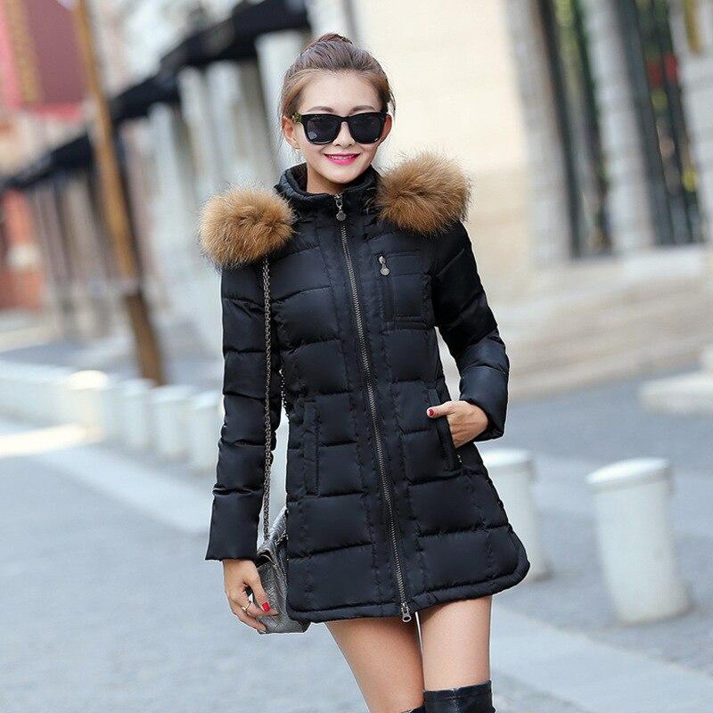 ФОТО Echoine Plus Size Winter Jacket Coats Women Parkas Thick Warm Faux Fur Collar Hooded Zipper Coat Manteau Femme M-3XL