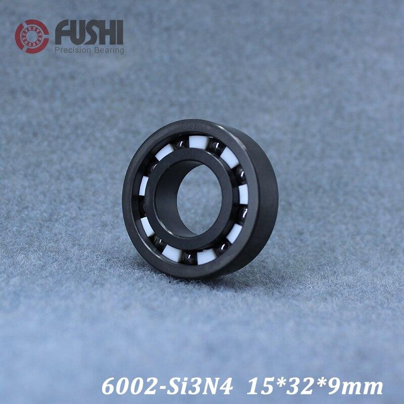 6002 roulement en céramique complet (1 PC) 15*32*9mm Si3N4 matériel 6002CE tous les roulements à billes en céramique de nitrure de silicium